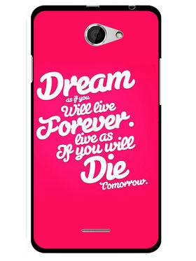 Snooky Designer Print Hard Back Case Cover For HTC Desire 516 - Rose Pink