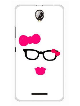 Snooky Designer Print Hard Back Case Cover For Lenovo A5000 - Pink