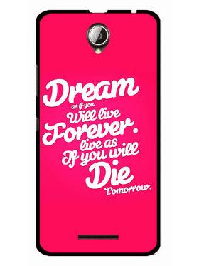 Snooky Designer Print Hard Back Case Cover For Lenovo A5000 - Rose Pink