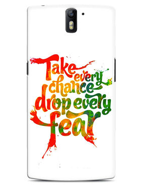 Snooky Designer Print Hard Back Case Cover For OnePlus One - White
