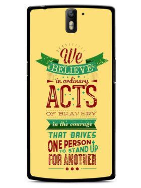 Snooky Designer Print Hard Back Case Cover For OnePlus One - Cream