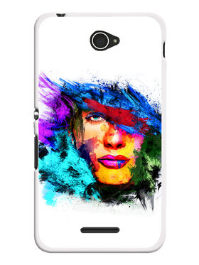 Snooky Designer Print Hard Back Case Cover For Sony Xperia E4 - Multicolour