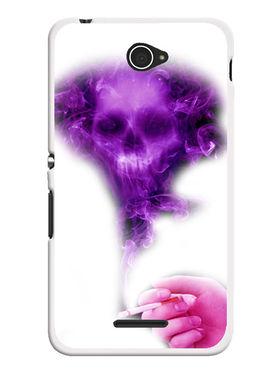 Snooky Designer Print Hard Back Case Cover For Sony Xperia E4 - Purple