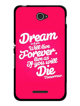 Snooky Designer Print Hard Back Case Cover For Sony Xperia E4 - Rose Pink