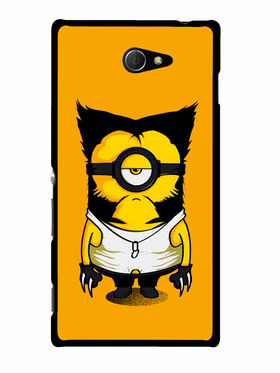 Snooky Designer Print Hard Back Case Cover For Sony Xperia M2 - Yellow