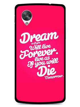 Snooky Designer Print Hard Back Case Cover For LG Google Nexus 5 - Rose Pink