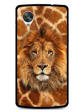 Snooky Designer Print Hard Back Case Cover For LG Google Nexus 5 - Brown
