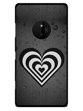 Snooky Designer Print Hard Back Case Cover For Nokia Lumia 830 - Grey