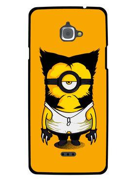 Snooky Designer Print Hard Back Case Cover For InFocus M530 - Yellow