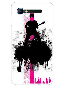 Snooky Designer Print Hard Back Case Cover For Intex Aqua Y2 pro - Black