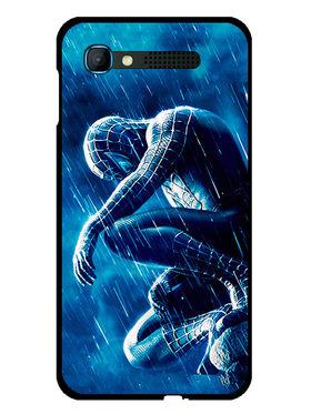 Snooky Designer Print Hard Back Case Cover For Intex Aqua Y2 pro - Blue