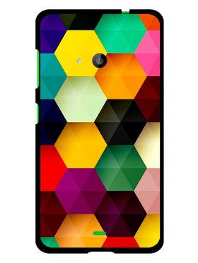 Snooky Designer Print Hard Back Case Cover For Microsoft Lumia 535 - Multicolour