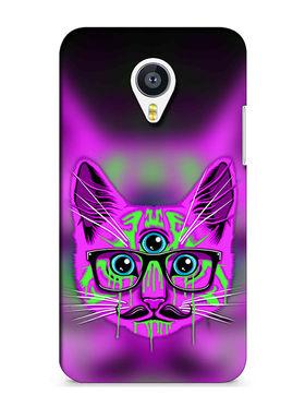 Snooky Digital Print Hard Back Case Cover For Meizu MX4 - Purple