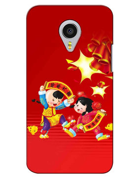 Snooky Digital Print Hard Back Case Cover For Meizu MX4 Pro - Mehroon