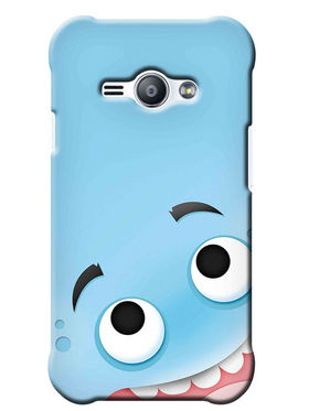 Snooky Digital Print Hard Back Case Cover For Samsung Galaxy J1 Ace - skyBlue
