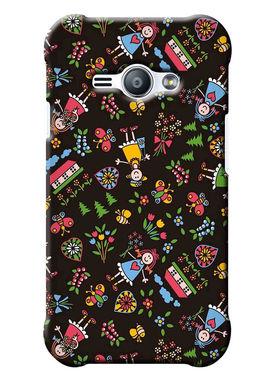 Snooky Digital Print Hard Back Case Cover For Samsung Galaxy J1 Ace - Multicolour
