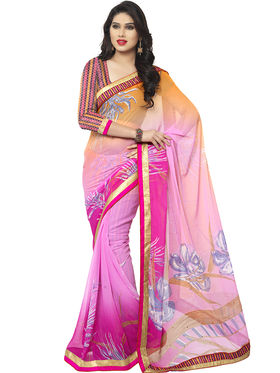 Viva N Diva Printed Chiffon Saree -vnds59