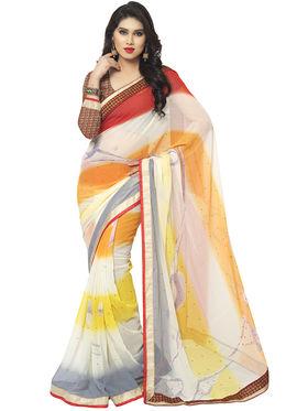 Viva N Diva Printed Chiffon Saree -vnds61