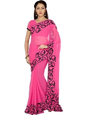 Designersareez Embroidered Chiffon Saree -1993