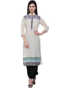 Lavennder Khadi Hand Blocked Kurti -623558