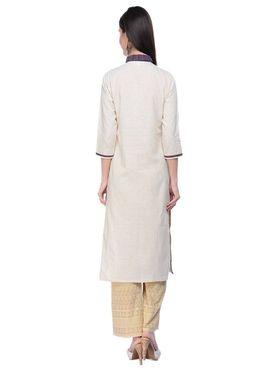 Lavennder Khadi Hand Blocked Kurti -623566