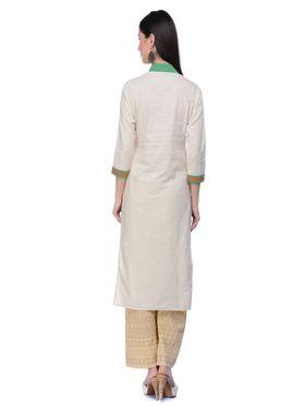 Lavennder Khadi Hand Blocked Kurti -623569