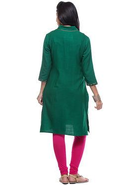 Lavennder Designer Green Hand Blocked Cashmelon Kurti -623639