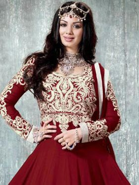 Adah Fashions Embroidered� Georgette Semi-Stitched Suit 714-9005f