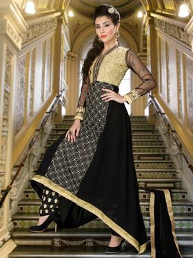 Adah Fashions Embroidered� Faux Georgette Semi-Stitched Suit 749-1003
