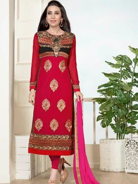 Adah Fashions Embroidered Georgette Semi-Stitched Suit 757-5169