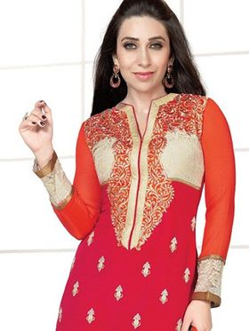 Adah Fashions Embroidered� Georgette Semi-Stitched Suit 782-5174