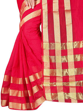 Adah Fashions Red South Silk Saree -888-109