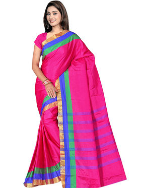 Adah Fashions Pink South Silk Saree -888-114