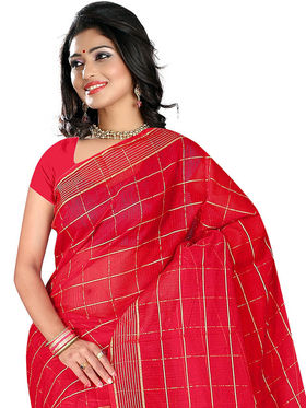 Adah Fashions Red South Silk Saree -888-118