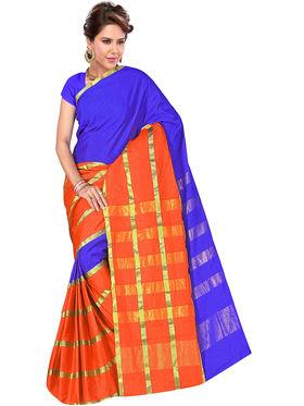 Adah Fashions Multicolor South Silk Saree -888-121