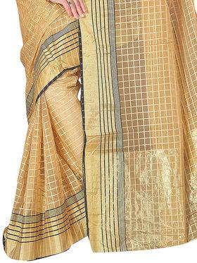 Adah Fashions Beige South Silk Saree -888-125