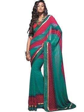 Zoom Fabrics Georgette Printed Saree -A1109