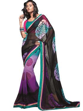 Zoom Fabrics Georgette Printed Saree -A1121