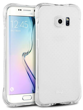 Aeoss Transparent Flexible Soft TPU Drop Protection Shockproof Case Cover for Samsung S7 Edge - White
