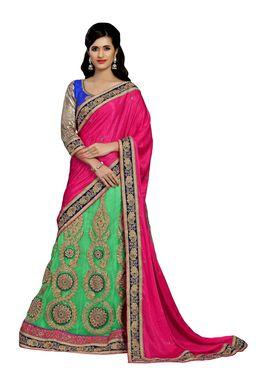 Khushali Fashion Embroidered Lehenga Saree_ASFD2A229