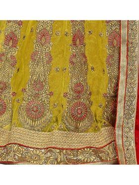 Khushali Fashion Embroidered Lehenga Saree_ASFD2A231