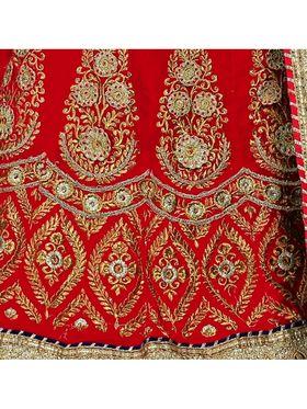 Khushali Fashion Embroidered Lehenga Saree_ASFD2A232