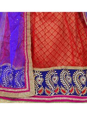 Khushali Fashion Embroidered Net Lehenga Choli(Red,Beige)_ASFN2A117RED