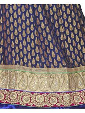 Khushali Fashion Embroidered Net Lehenga Choli(Blue,Beige)_ASFN2A118NBLUE