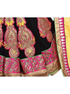 Khushali Fashion Embroidered Georgette Half & Half Saree_KF11