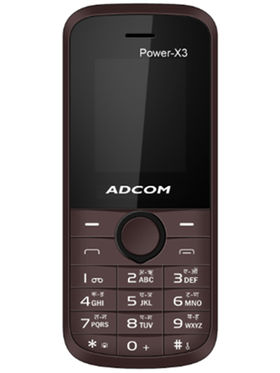 Adcom X3 Power Dual Sim Mobile - Brown & Black