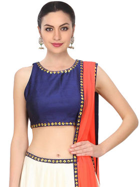 Styles Closet Printed Banglori Silk Semi Stitched Lehenga Choli-Bnd-7013