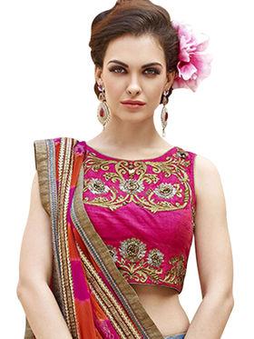 Styles Closet Embroidery Banglori Silk MultiColor Lehenga - BND-7022