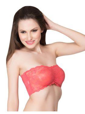 Clovia Nylon Lace Solid Bra -BR0111C23