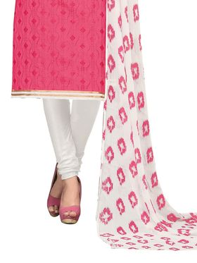 Khushali Fashion Chanderi Embroidered Unstitched Dress Material -BRCRN1011